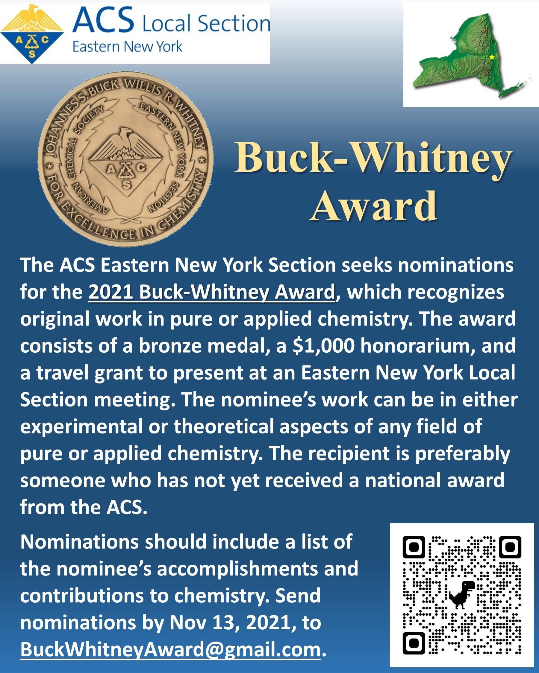 Buck-Whitney Award